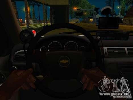 Chevrolet Tahoe Texas Highway Patrol pour GTA San Andreas vue arrière