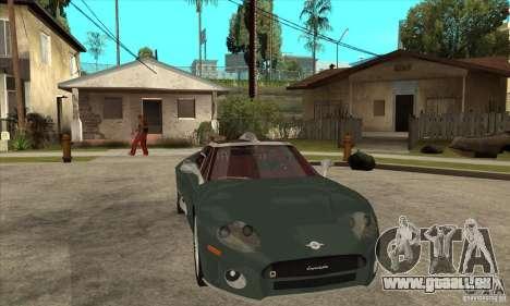 Spyker C8 Laviolete für GTA San Andreas Innenansicht