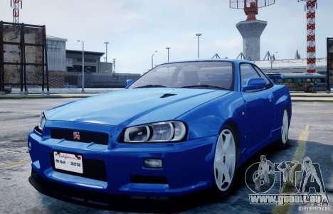 Nissan Skyline GT-R R34 Mspec pour GTA 4
