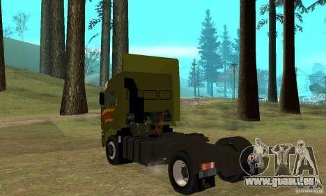 KAMAZ 5460 peau 3 pour GTA San Andreas vue de droite