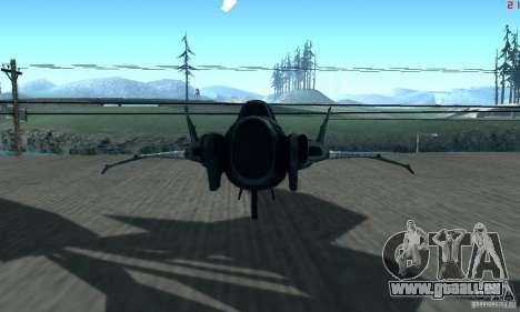 BatWing pour GTA San Andreas sur la vue arrière gauche