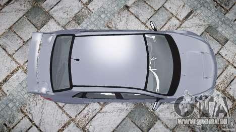 Subaru Impreza WRX 2011 pour GTA 4 vue de dessus