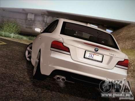 BMW 135i für GTA San Andreas obere Ansicht