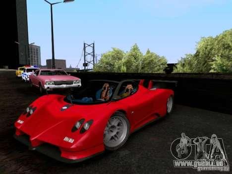 Pagani Zonda EX-R für GTA San Andreas Rückansicht