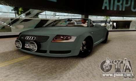 Audi TT Roadster pour GTA San Andreas vue intérieure