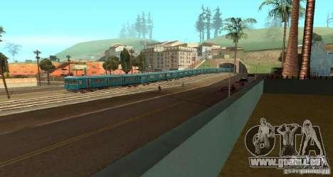 U-Bahn Typ Igel für GTA San Andreas rechten Ansicht