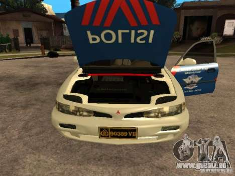 Mitsubishi Galant Police Indanesia pour GTA San Andreas vue de droite