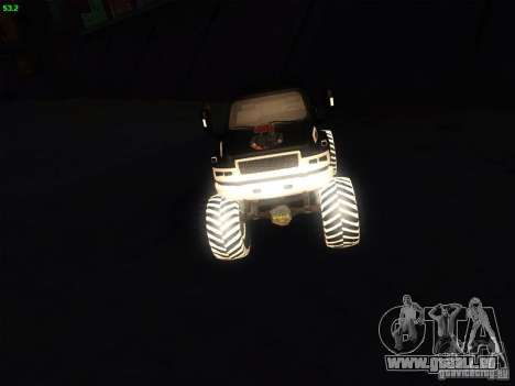 GMC Monster Truck pour GTA San Andreas vue de droite