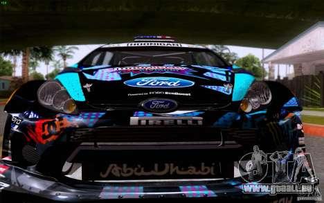 Ford Fiesta 2013 v2.0 pour GTA San Andreas laissé vue