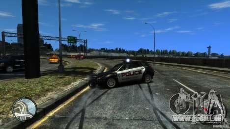 Subaru Impreza WRX STI Police pour GTA 4 est une vue de l'intérieur