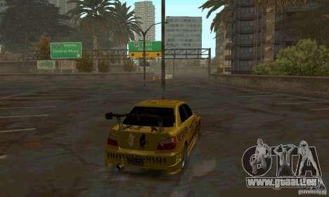 NFS Most Wanted - Paradise pour GTA San Andreas sixième écran