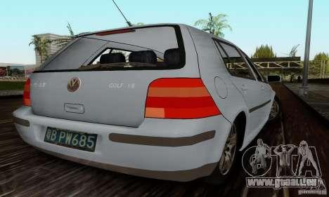 Volkswagen Golf 4 1.6 pour GTA San Andreas sur la vue arrière gauche