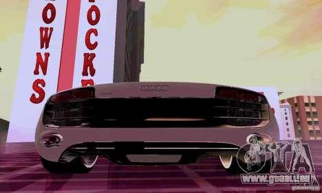 Audi R8 V10 5.2. FSI pour GTA San Andreas vue arrière