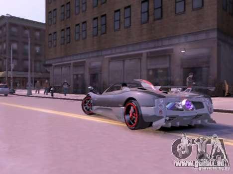 Pagani Zonda Cinque Roadster v 2.0 pour GTA 4 Vue arrière