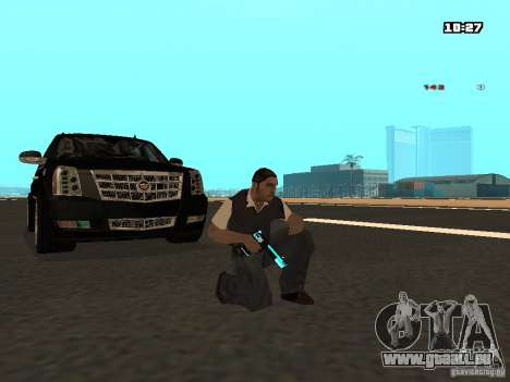 Black & Blue guns für GTA San Andreas zweiten Screenshot