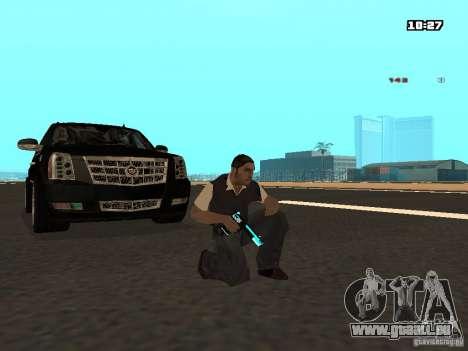 Black & Blue guns pour GTA San Andreas deuxième écran