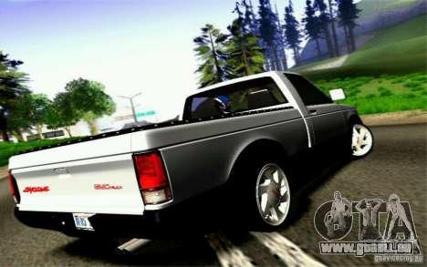 GMC Syclone Stock pour GTA San Andreas vue intérieure