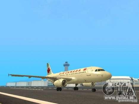 Airbus A319 Air Canada pour GTA San Andreas laissé vue