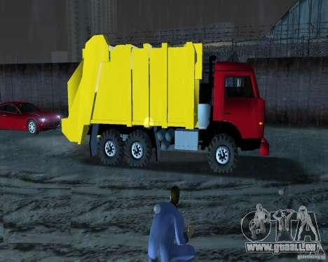KAMAZ camion à ordures pour une vue GTA Vice City de la gauche