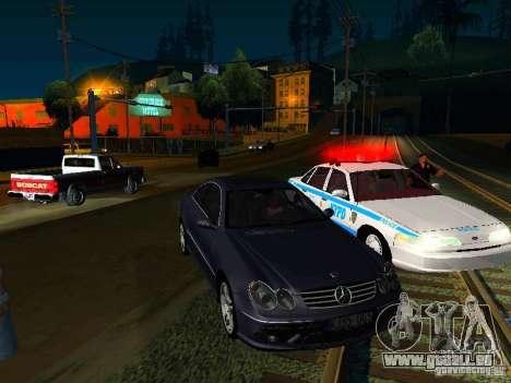Mercedes-Benz CLK55 AMG pour GTA San Andreas vue intérieure
