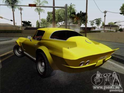 Chevrolet Corvette 1967 für GTA San Andreas zurück linke Ansicht