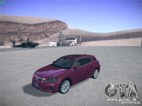 Lexus CT200H 2012 für GTA San Andreas rechten Ansicht