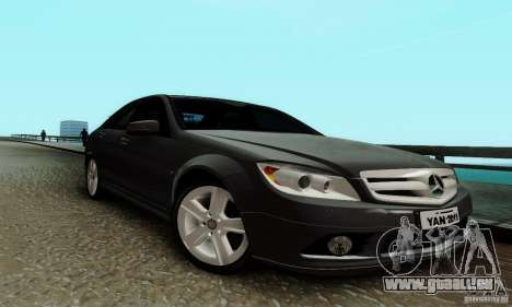 Mercedes-Benz C180 pour GTA San Andreas laissé vue