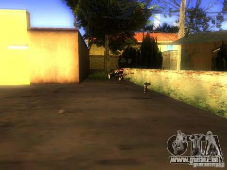 Waffen in der Grove Street für GTA San Andreas zweiten Screenshot