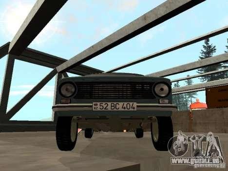 VAZ 21011 pour GTA San Andreas sur la vue arrière gauche