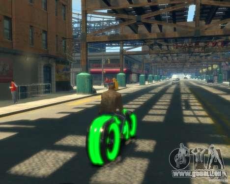 Moto du trône (vert fluo) pour GTA 4 Vue arrière de la gauche