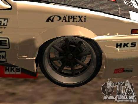 Toyota AE86 Coupe pour GTA San Andreas vue arrière