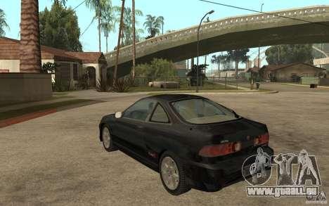 Acura Integra Type-R pour GTA San Andreas sur la vue arrière gauche