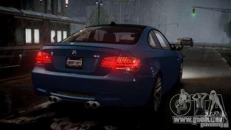 BMW M3 E92 ZCP 2012 pour GTA 4 est une gauche