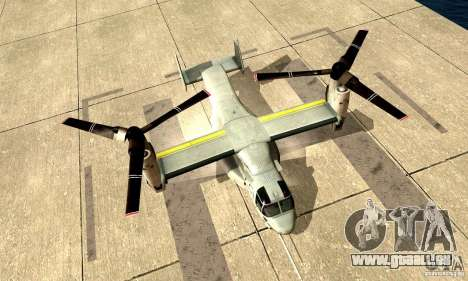MV-22 Osprey für GTA San Andreas zurück linke Ansicht