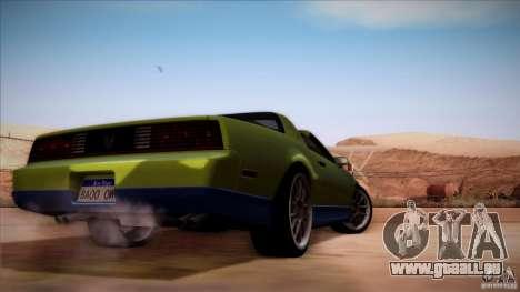 Pontiac Firebird Trans Am pour GTA San Andreas vue de droite