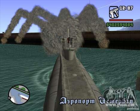 U99 German Submarine für GTA San Andreas siebten Screenshot