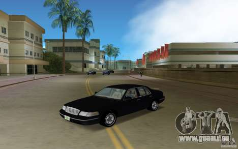 Ford Crown Victoria für GTA Vice City zurück linke Ansicht