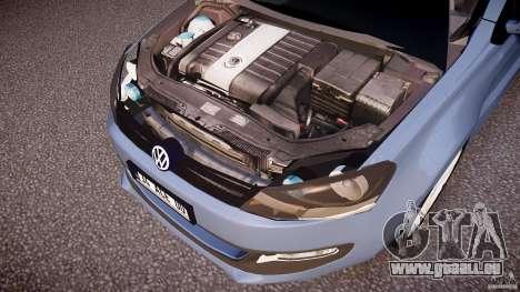 Volkswagen Polo 2011 pour GTA 4 est une vue de dessous