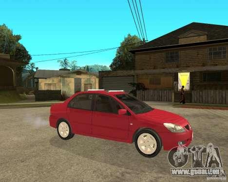 Mitsubishi Lancer 2005 pour GTA San Andreas vue de droite