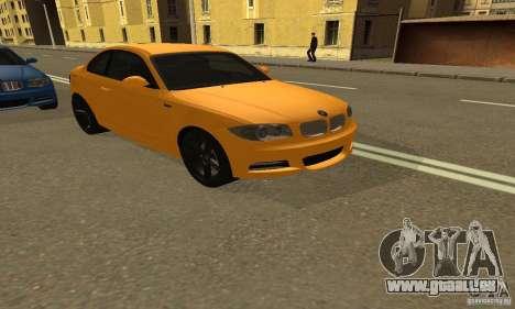 BMW 135i Coupé für GTA San Andreas zurück linke Ansicht
