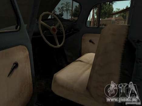 Das Fahrzeug des zweiten Weltkrieges für GTA San Andreas Innenansicht