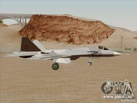 T-50 Pak Fa für GTA San Andreas Rückansicht