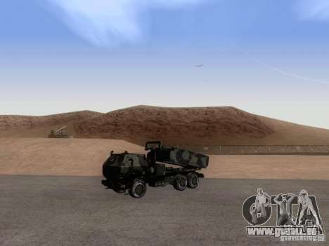 M142 HIMARS Artillery pour GTA San Andreas vue de droite