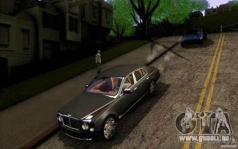 Bentley Mulsanne 2010 v1.0 pour GTA San Andreas vue de dessus