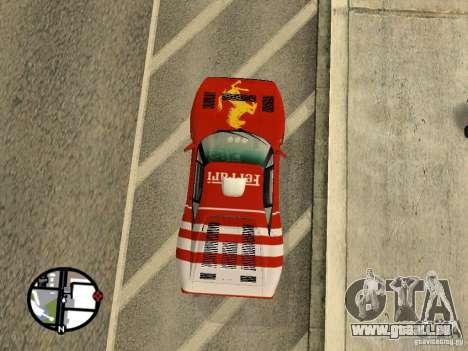 Ferrari 288 Gto pour GTA San Andreas vue de droite