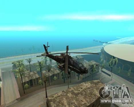 Ka-50 Black Shark für GTA San Andreas linke Ansicht