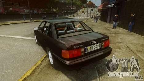 Audi 100 C4 1992 pour GTA 4 Vue arrière de la gauche