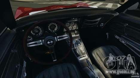Chevrolet Corvette Stringray 1969 v1.0 [EPM] pour GTA 4 Vue arrière