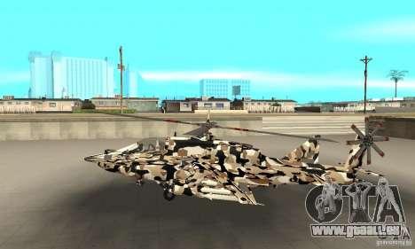 Hydra Hunter pour GTA San Andreas laissé vue