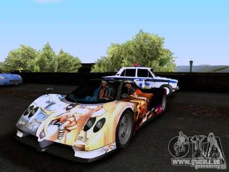Pagani Zonda EX-R für GTA San Andreas Unteransicht